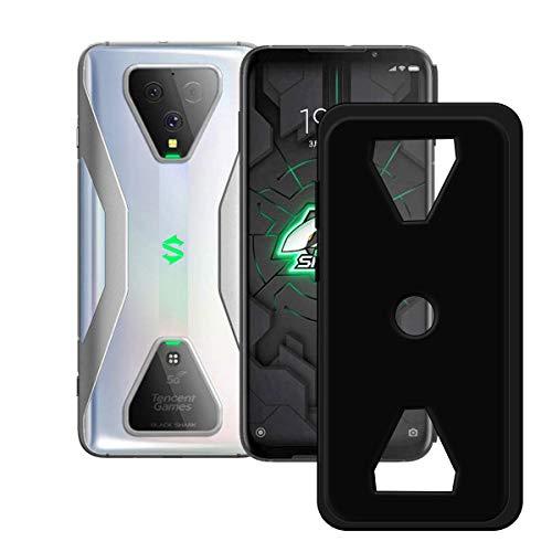 DQG Anti-Fall Schutzhülle für Xiaomi Black Shark 3 Hülle, Weiche Flexibel Handytasche Schwarz TPU Handyhülle Silikon Tasche Schale rutschfest Hülle Cover für (6.67