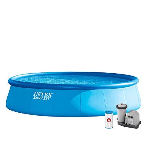 INTEX KIT Piscine Easy Set 5M49 X 1M22, 20.647 liters L, Bleu, 549x549x122 cm