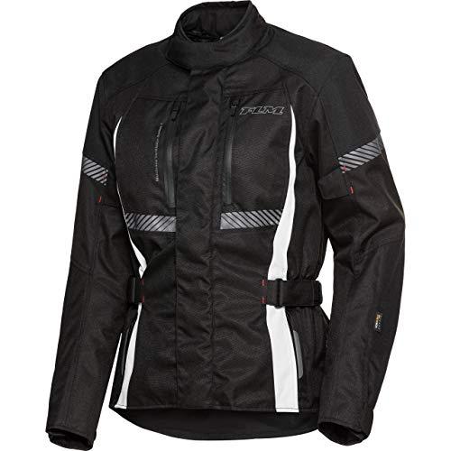 FLM Motorradjacke mit Protektoren Motorrad Jacke Touren Damen Textiljacke 4.0 schwarz L, Tourer, Ganzjährig, Polyamid