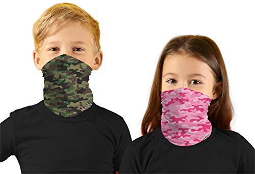 Girls Face Rave Mask Running Bandanas Outdoor Facemask Neck Gaiter UPF 50+ Sun Mask Scarf for Boy