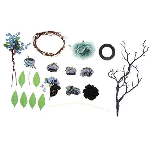 Baoblaze 11pcs/ Kits de Bricolage pour Coiffe Accessoires de Coiffure pour Cérémonie de Fête Mariage