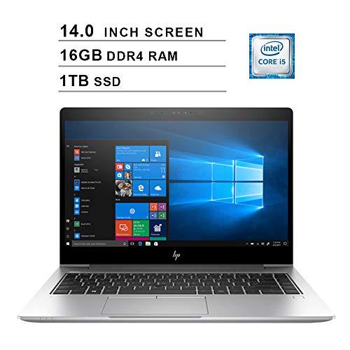2020 Premium HP EliteBook 840 14 Inch FHD Business Laptop (Intel Core i5-8250U up to 3.4 GHz, 16GB DDR4 RAM, 1TB SSD, WiFi, Bluetooth, FHDMI, Windows 10 Pro) (Silver)