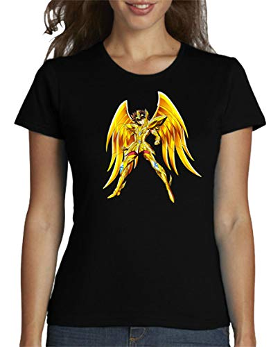 The Fan Tee Camiseta de Mujer Caballeros del Zodiaco Pegaso Dragon Sain Seyia Fenix 002 L