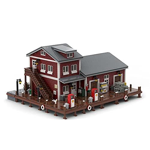 PLEX Hafentankstelle Modell, 5635 Teile Bauset, Dock Dockside Fuel and Oil MOC-54693 Kompatibel mit Lego 21310 Alter Angelladen
