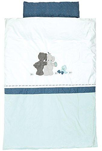 Nattou Baby Bettwäsche 135 x 100 cm mit Kissenbezug, Jungen - Jack, Jules und Nestor