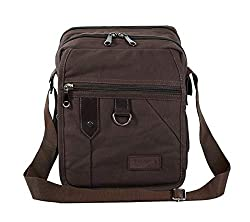 DAHSHA Sling Cross body Travel Office Business Messenger bag for men women (Brown, 8.5X7x10 inch),DAHSHA,Travel Messenger Bag- Brown