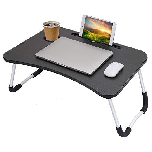 Laptop Schreibtisch, Tragbare Bettablage Tisch Laptop-Betttisch, Folding Frühstück Serviertablage Notebook Ständer mit Tablet-Schlitz und Cup Slot zum Essen Frühstück ,Lesebuch, Film auf Bett, Couch