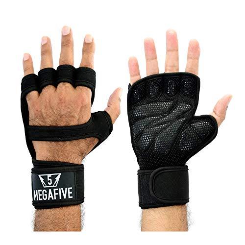 MEGAFIVE – Guantes de musculación, Fitness, Gimnasia Ideal para Entrenamientos intensivos versión Mejorada con un Protector de muñeca y un Mantenimiento de Manos, para Hombre y Mujer (XL)
