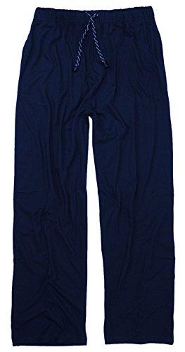 Długie spodnie piżamy – spodnie piżamy w dużych rozmiarach do 10XL w kolorze ciemnoniebieskim
