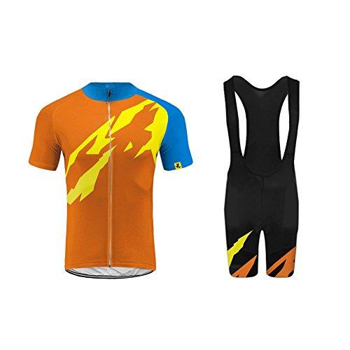 Future Sports Bike Wear Designs - Ropa Ciclismo, Transpirable De Manga Corta Ciclismo Bicicleta Jersey con 3D Almohadilla De Gel para Pro Bicicleta Culotte Equipo Ropa Bodies