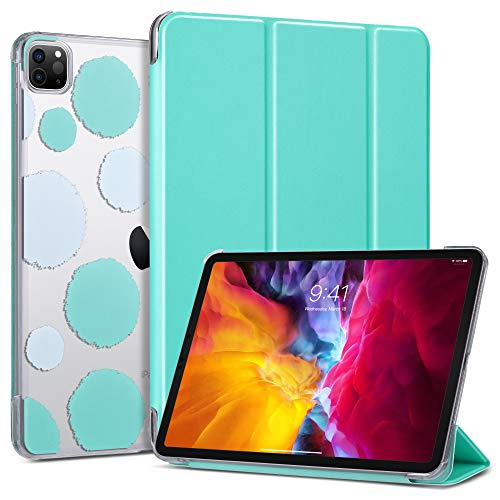 ULAK Case for iPad Pro 11 Inch 2020/2018, Slim Lightweight Trifold Stand Smart Cover with Auto Wake/Sleep, Hard Back Designed Cover for iPad Pro 11 (Support 2nd Gen iPad Pencil Charging), Mint