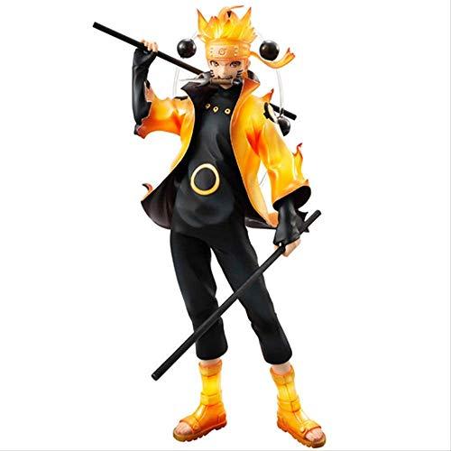 XMHL Naruto Shippuden Rikudo Sennin Mode Uzumaki Naruto Figura de acción Modelo de Anime Estatua de PVC Juguete Coleccionable decoración de Escritorio 20 cm