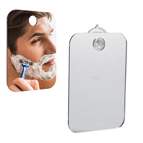 NANUNU Fog-Free Travel Spiegel für die Rasur fogless Badezimmerspiegel mit Abnehmbarer Wandabsaugung 6.69x5.11x0.98inch Spiegel