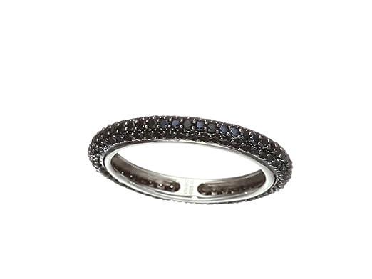 Black Spinel Gemstone 925 Sterling Silver Stacking Eternity Wedding Band Ring