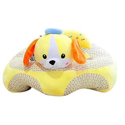 Baby-Sofa-Sitzbezug, Cartoon-Plüschsitz, weiches Sofa, abnehmbar, waschbar, Baby-Stützsitz, Plüschspielzeug, Kissen für Kleinkinder, Kinder, Kleinkinder, gelber Hund