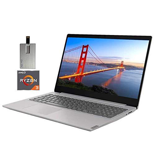 2020 Lenovo IdeaPad 15.6' FHD LED Laptop Computer, AMD Ryzen 3-3200U Processor, 8GB RAM, 256GB PCIe SSD, Dolby Audio, AMD Radeon Vega 3 Graphics, Webcam, HDMI, Win 10 S, Gray, 32GB Snow Bell USB Card