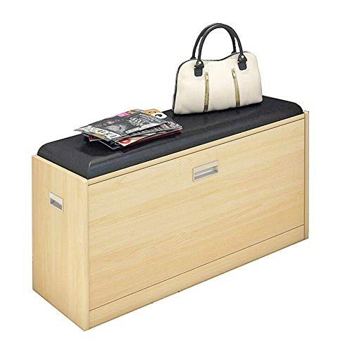 ZAIHW Zapatero Zapatero Estante para Almacenamiento de Zapatos Gabinete de Madera para Zapatos con cojín de Asiento para Pasillo Dormitorio 83 * 30 * 43cm (Color: 01)
