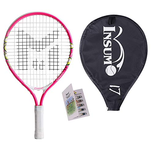 Kids Tennis Racket Starter Kit for Kids with Shoulder Strap Bag Mini Tennis Racket Toddler Tennis Raquet 17 Inch for Age 4 and Under
