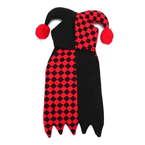 Gonnely Stoomreinigers-Polyester Leuke Huisdier Halloween Kleding Cartoon Clown Joker Kostuum Leveringen voor Katten Kleine Honden (XL)