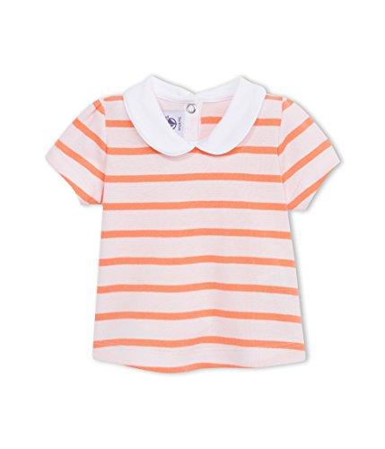 Petit Bateau Camiseta Manga Corta Blanco/Naranja 6 Meses (68)