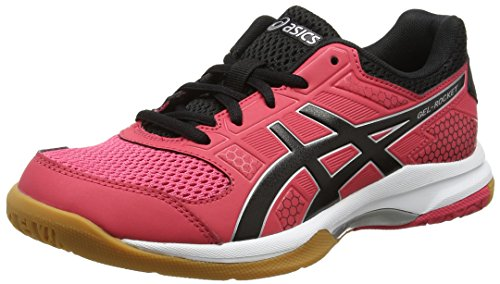 Asics Gel-Rocket 8, Zapatillas de Voleibol para Mujer, Rosa (Rouge Red/Black/White 1990), 38 EU