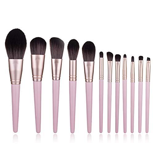 Pinceau De Maquillage Professionnel Set 12 Pièces Avec Sac Brush Photo Studio Beauté Outils Pinceau Fard À Joues Ombre À Paupières Pinceau,1