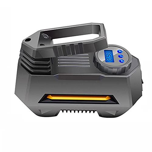JIUFACAI Pompa Ad Aria Per Auto Con Display Digitale A 22 Cilindri, Compressore D'aria Portatile, Gonfiatore Per Pneumatici-pompa Per Pneumatici Per Auto Con Manometro Digitale (150 Psi 12V Dc), Torci