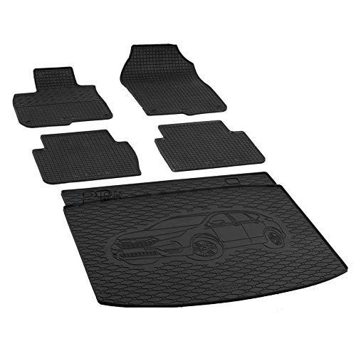 X & Z PPH – Juego de alfombrillas de goma para maletero Honda CR-V a partir de 2018, antideslizante