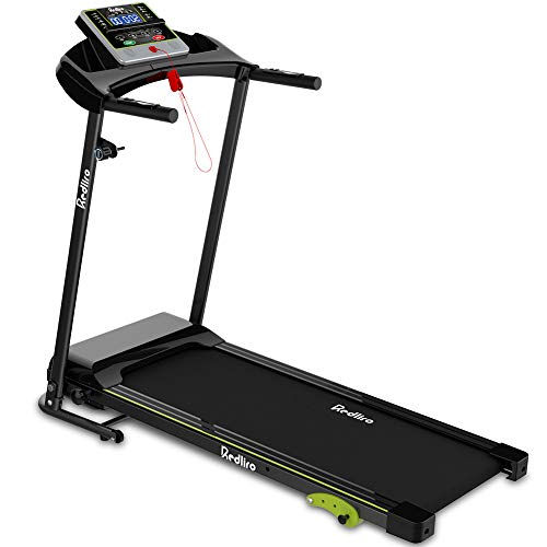 REDLIRO Folding Treadmill for Home Jogging/Walking with Incline Portable Space Saving Fitness Running Electric Indoor Exercise Workout Office Physical Training