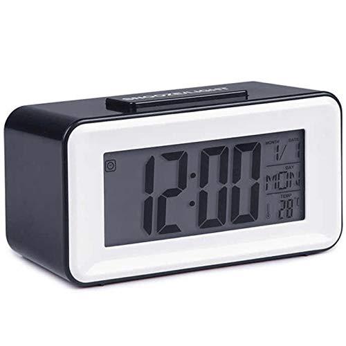 SovelyBoFan Despertadores Led Digitales Relojes de Estudiantes con Reposo de la Semana Reloj TermóMetro Calendario de Mesa ElectróNico LCD Temporizador de Escritorio
