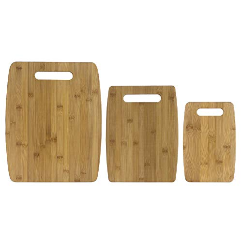 Totally Bamboo 20-7920 3-Piece Bamboo Cutting Board Set, 1 EA, Brown