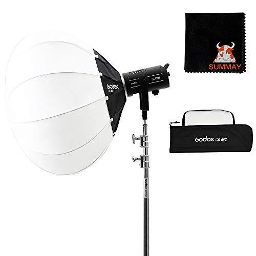 Godox Laterne Softbox65 cm (26Zoll) Globus Softbox mit Bowens Mount erweitert die Kompatibilität für LED Licht/Studioblitz/Blitz Monolicht und...