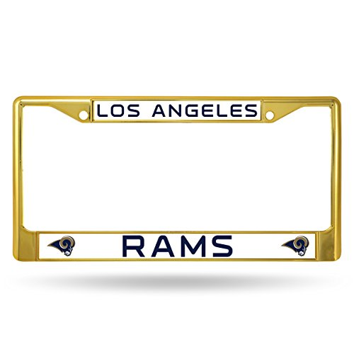 Rico Industries NFL Los Angeles Rams Team Colored Chrome License Plate Frame