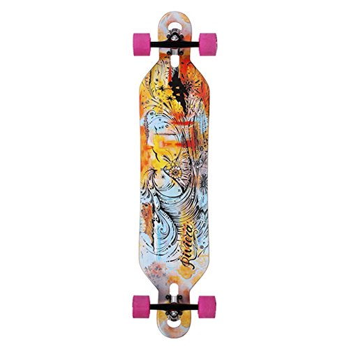 Monopatín Longboard Skate Skateboard RIVIERA.Great Wave 41.5 Sakari Trucks, Glutier Wheels