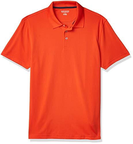 Amazon Essentials Slim-Fit Golf Polo Shirt, Orange, XS