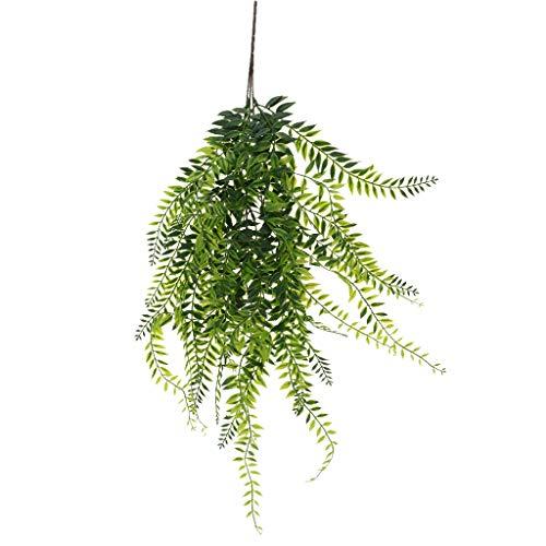 Baoblaze Decoración del Hogar de La Pared del Sauce Llorón Artificial de La Planta Colgante de La Vid Verde Plástica