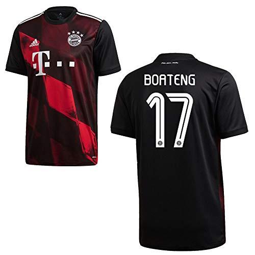 adidas Bayern Trikot 3rd Herren 2021 - Boateng 17, Größe:XXL