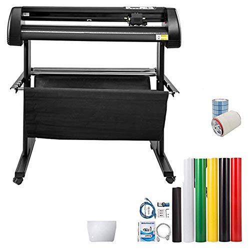 VEVOR Vinyl Cutter 34Inch Vinyl Cutter Machine Manual Vinyl Printer LCD Display Plotter Cutter Sign Cutting with Signmaster Software for Design and Cut,with Supplies, Tools