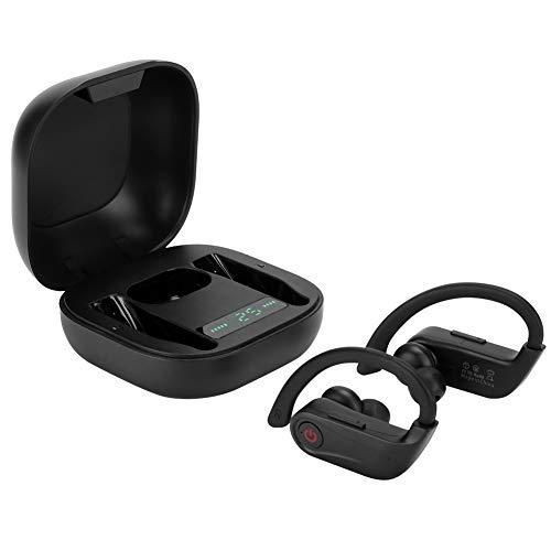Audífonos intrauditivos inalámbricos, audífonos True Bluetooth 5.0, audífonos Deportivos intrauditivos inalámbricos con Pantalla Digital, con Caja de Carga inalámbrica