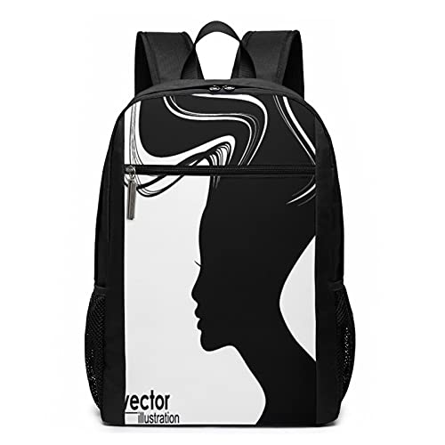 Schulrucksack Frauenhaar, Schultaschen Teenager Rucksack Schultasche Schulrucksäcke Backpack für Damen Herren Junge Mädchen 15,6 Zoll Notebook