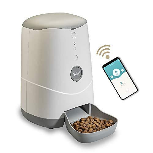 Hi.Pet AMA03 Distributore Cibo Cani e Gatti, Smart, WiFi, Dispenser Automatico Cibo Animali Crocchette e Croccantini,Compatibile iOS Android.p L' App Wi-Fi Programma Cibo Giornaliero o settimanale