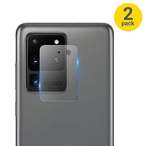 Olixar Protectores de Cámara Samsung Galaxy S20 Ultra Cristal Templado - Cristal/Vidrio - Dureza 9H - Tempered Glass - 2 uds
