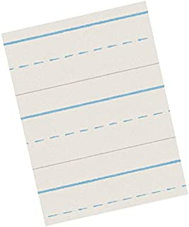 School Smart Red & Blue Newsprint Paper, 1/2 Inch Ruled, 8-1/2 x 11 Inches, 500 Sheets