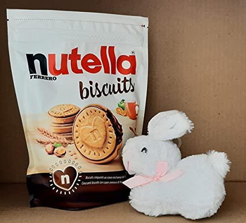 Nutella Ferrero Idea Regalo - Nutella Biscuits 304g + Peluche Coniglietto Bianco