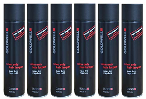 6 x Goldwell Salon Only Hair Lacquer 600 ml.