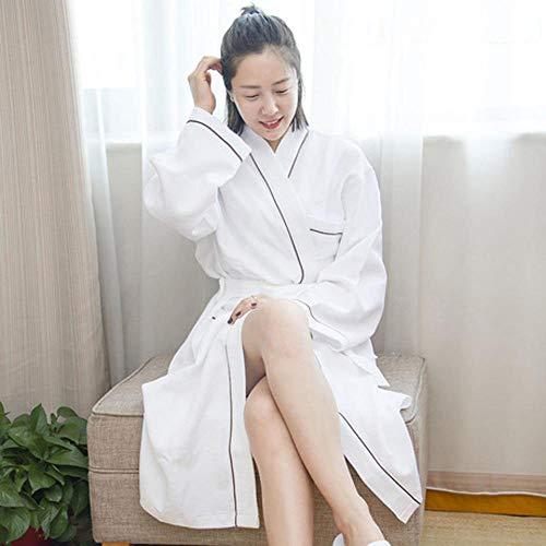 LWW Badjas, Katoen mannen en vrouwen badjassen katoen grijze badjas hotel beauty salon badpak