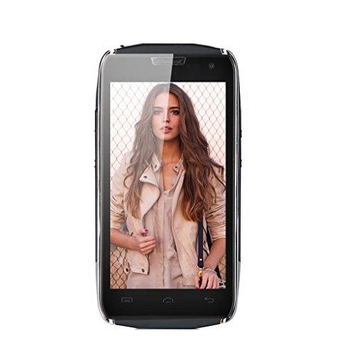 DOOGEE TITANS2 DG700 4.5 '' IPS Sbloccato Smartphone 3G - QHD TouchScreen robusto Telefono HotKnot impermeabile IP67 Android 4.4 MTK6582 1.3GHz Quad antipolvere Nucleo Mobile Phone Dual SIM 1 GB di RAM 8GB ROM OTG OTA GPS antigraffio Wake Gesto LED cellulare Indicator WIFI Bluetooth - Nero