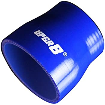 UPGR8 4-PLY 3.0/'/' to 3.5/'/' Black Straight Reducer Coupler Silicone Hose 89MM ID