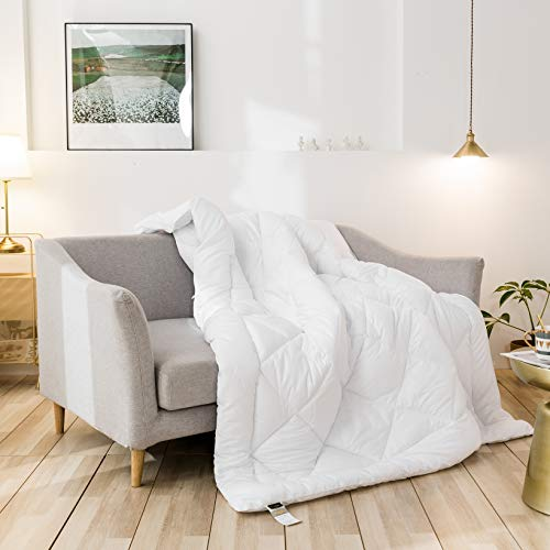 Cozynight Down Alternative Comforter-All Season Full Comforter Duvet Insert with Corner Tabs-Hypoallergenic & Breathable-Diamond Stitched Reversible White Comforter