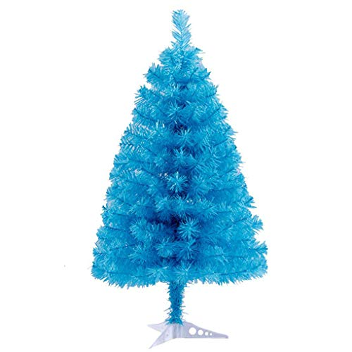 Jackcsale 2 Foot Artificial Christmas Tree Xmas Pine Tree with PVC Leg Stand Base Holiday Decoration Sky Blue